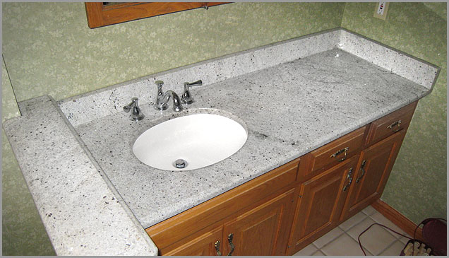 White Granite Countertops Bathroom