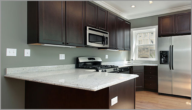 Cashmere White Granite In This Kitchen ...